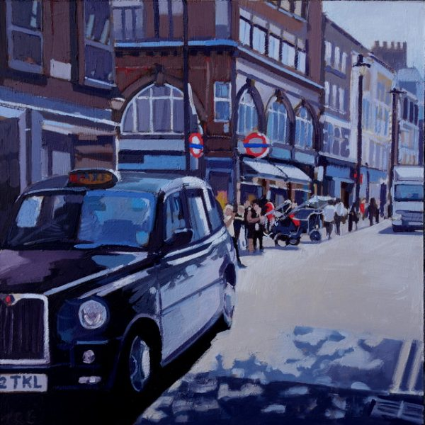 Taxi, Covent Garden Tube by Jennifer Greenland Riverside Gallery Barnes