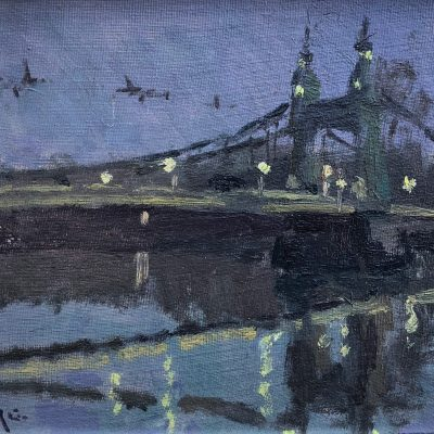 Hammersmith Bridge Lights by Rod Pearce