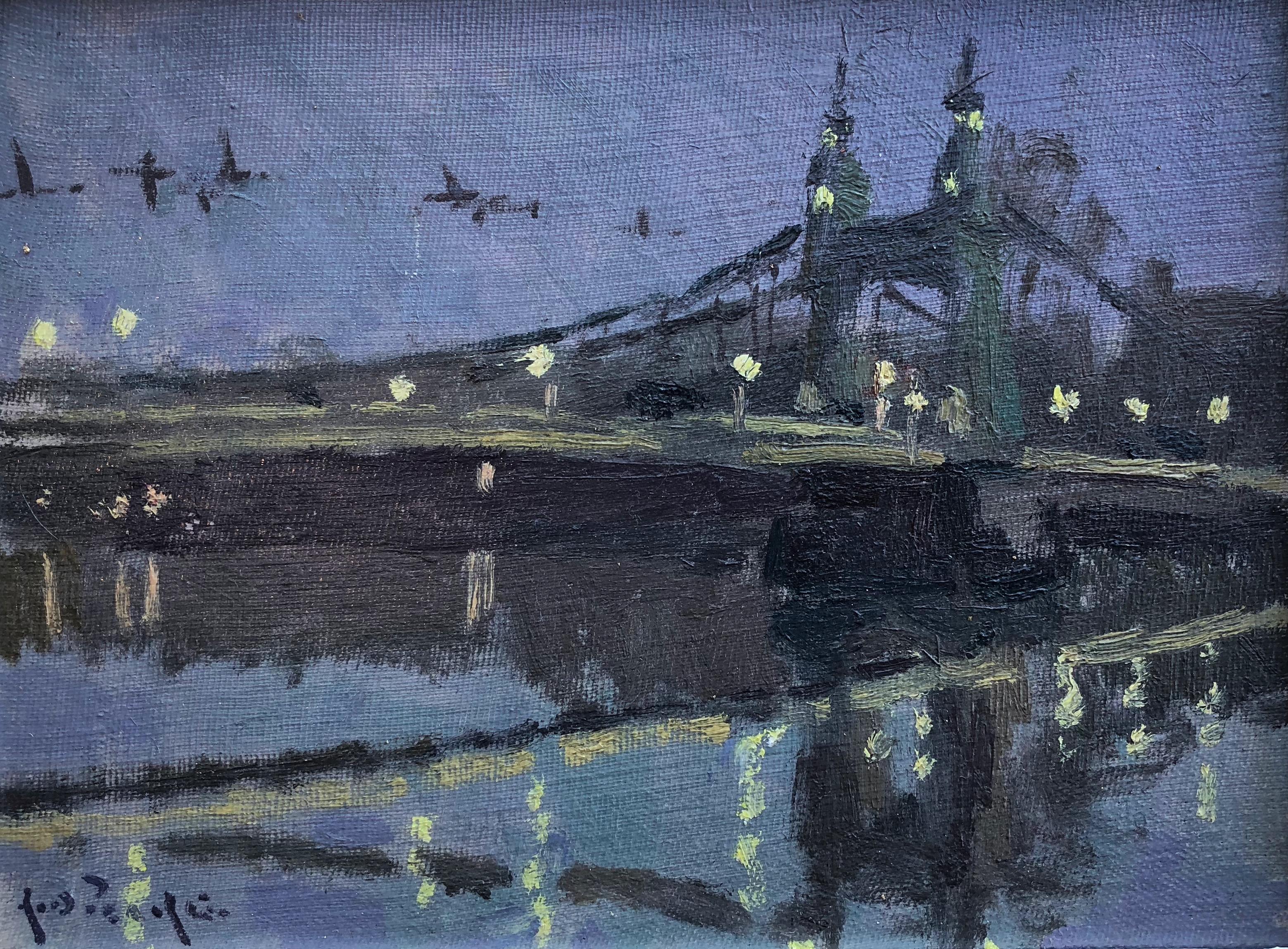 Hammersmith Bridge Lights by Rod Pearce
