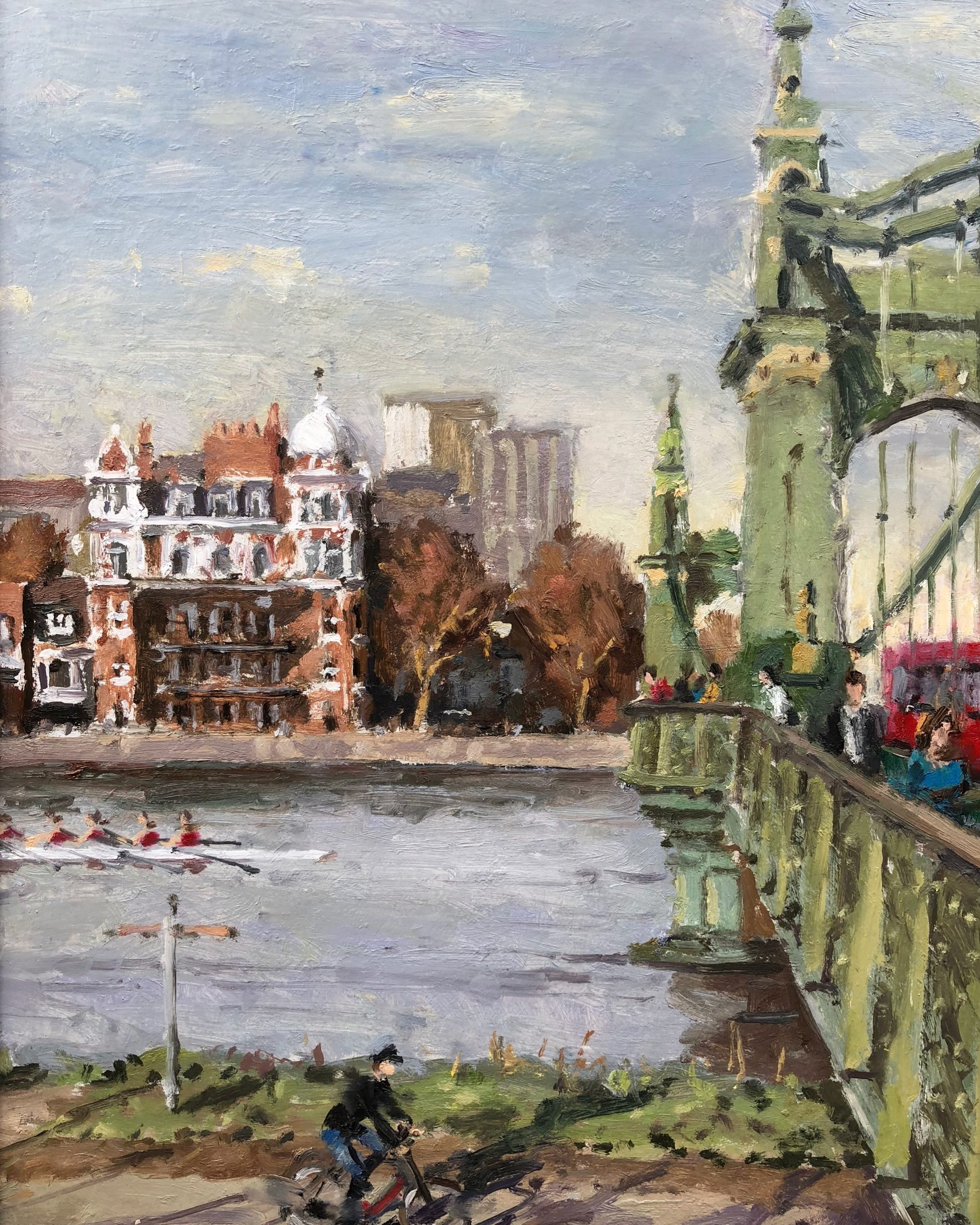 Hammersmith Bridge by Rod Pearce