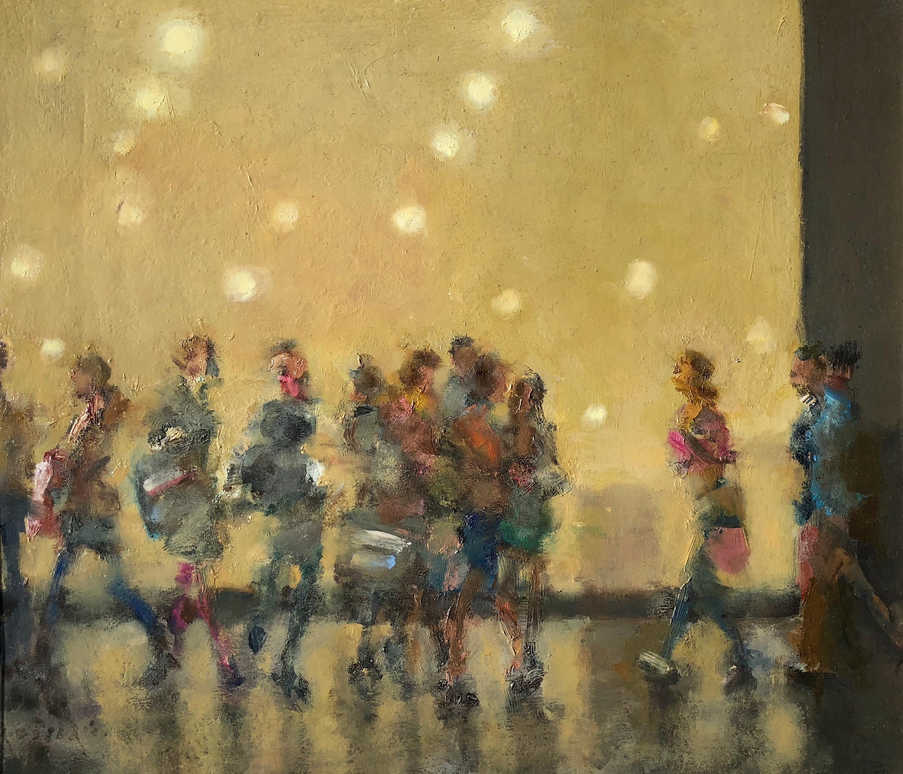 Knightsbridge Shoppers by Rod Pearce