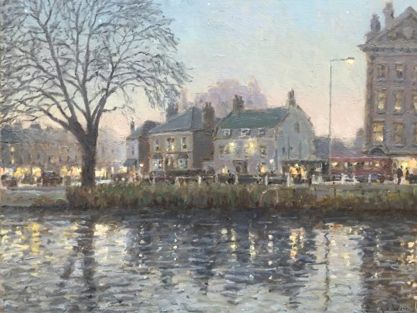 Evening Barnes Pond by Rod Pearce