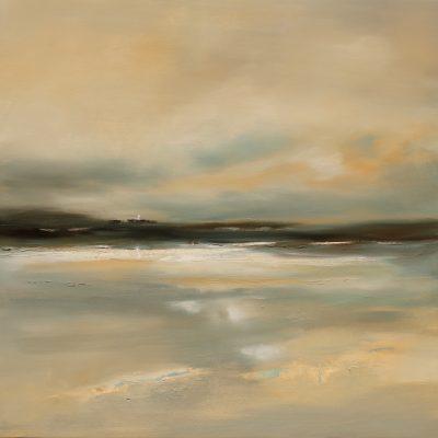 Godrevy Lighthouse by Karen Laurence-Rowe Riverside Gallery Barnes