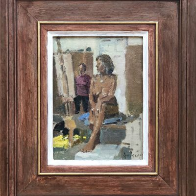 Nude, Lady in Studio by Rod Pearce Riverside Gallery Barnes