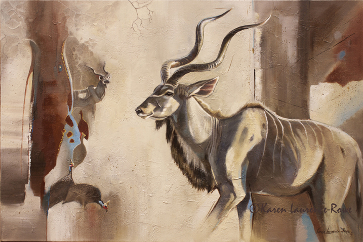 Kudus and Kangas by Karen Laurence-Rowe Riverside Gallery Barnes