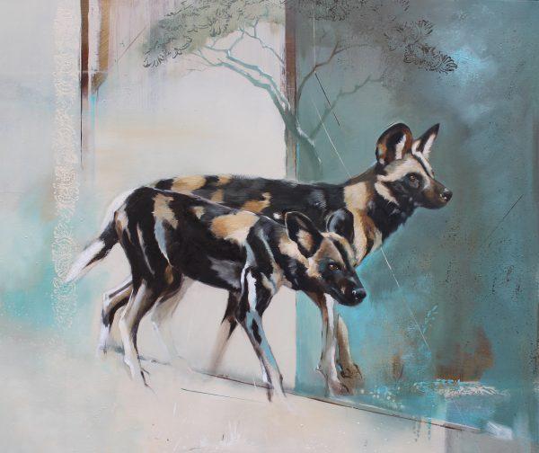 Wolves by Karen Laurence-Rowe Riverside Gallery Barnes