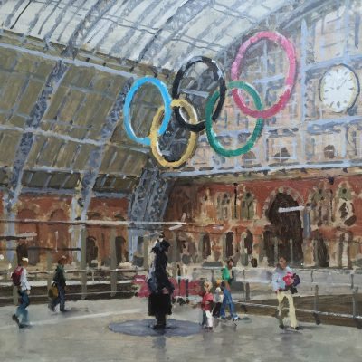 St Pancras Station, London by Rod Pearce Riverside Gallery Barnes