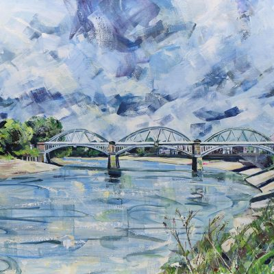 Barnes Bridge by Nadia Day Riverside Gallery Barnes