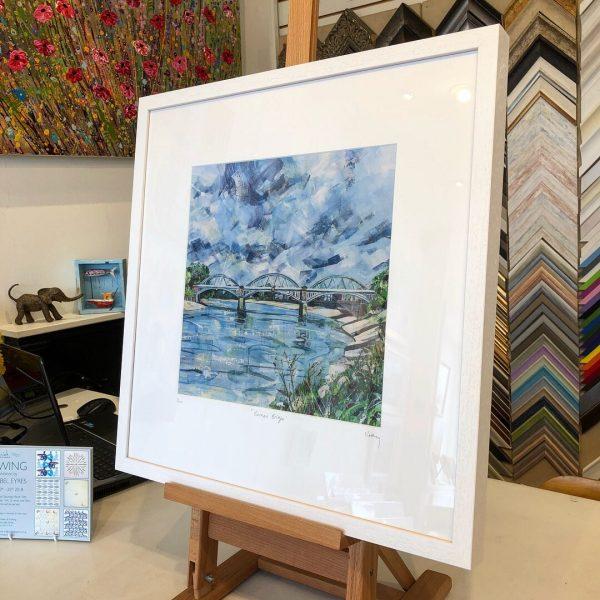 Barnes Bridge limited edition print 50x50cm by Nadia Day
