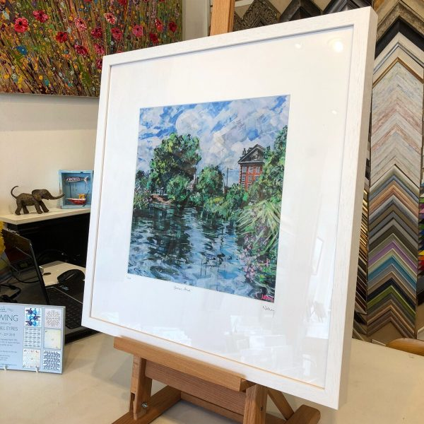 Barnes Pond limited edition print by Nadia Day