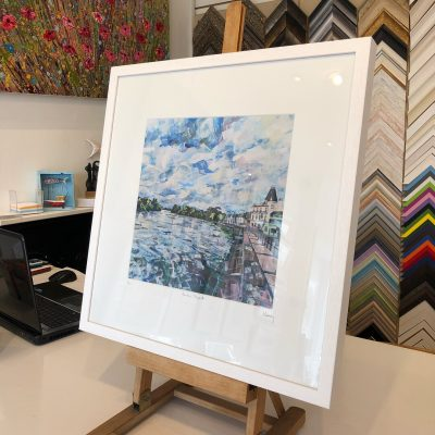 Barnes Towpath print by Nadia Day
