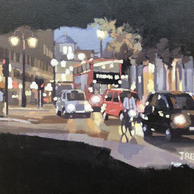 London Rush 2 by Jennifer Greenland, original painting, Riverside Gallery Barnes