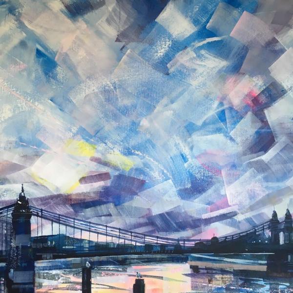 Hammersmith Bridge by Nadia Day