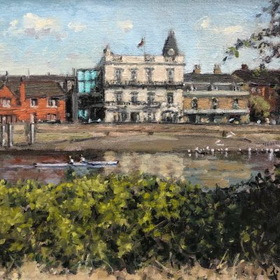 Towards The Bulls Head by Rod Pearce Riverside Gallery Barnes