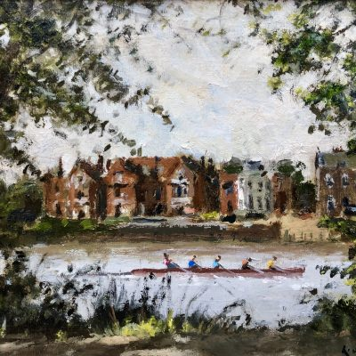 Rowing Towards Barnes by Rod Pearce