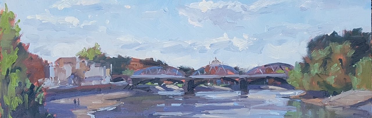Barnes Railway Bridge, Autumn Sunshine by Jennifer Greenland