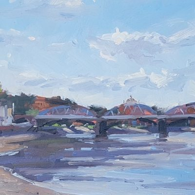 Barnes Railway Bridge, Autumn Sunshine by Jennifer Greenland