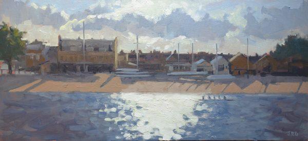 Rowing Boats, Putney Embankment by Jennifer Greenland
