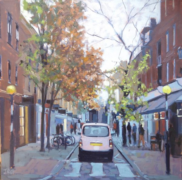 Pink TaxI, Monmouth Street by Jennifer Greenland