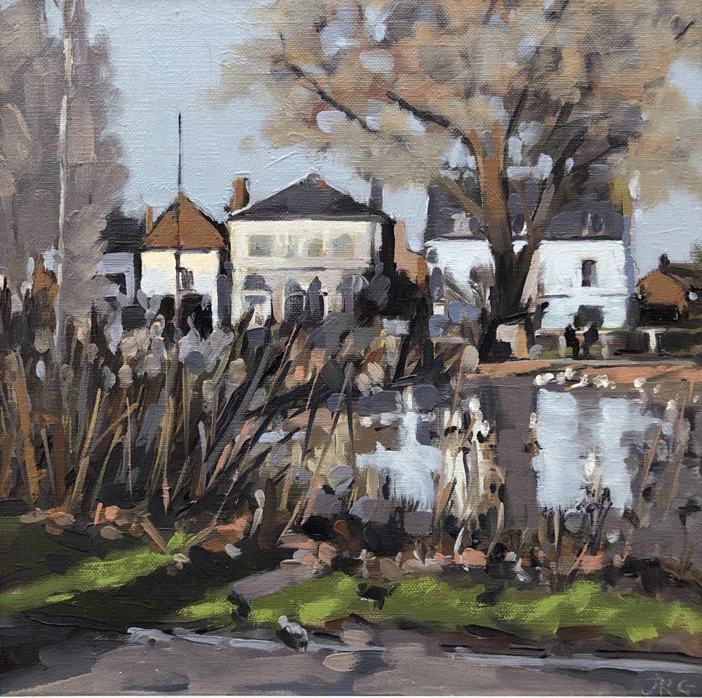 Barnes Pond, Winter by Jennifer Greenland