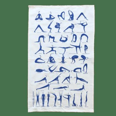 Yoga Tea Towel by Annabel Eyres