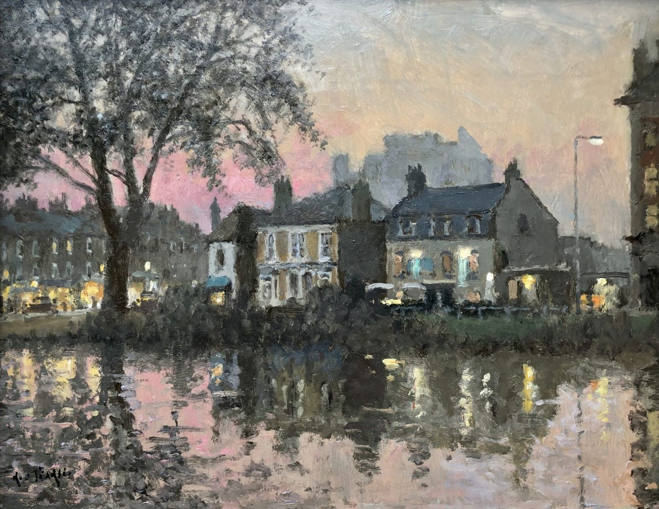 Barnes Pond, Evening by Rod Pearce