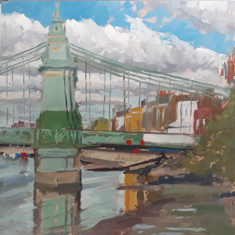 Bright Morning, Hammersmith Bridge