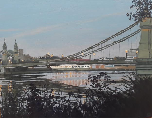Dusk, Hammersmith Bridge