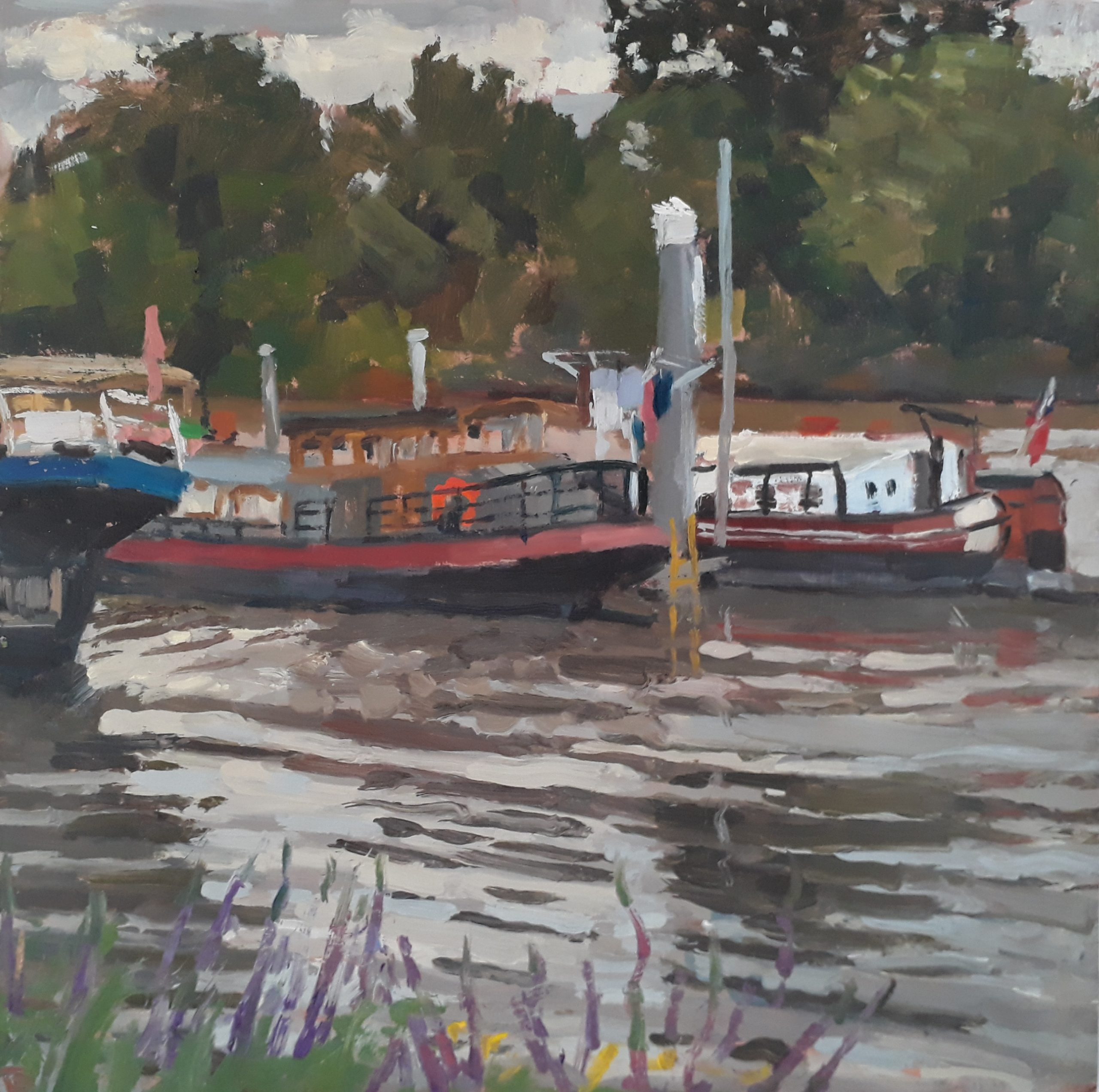 Houseboats on the Thames