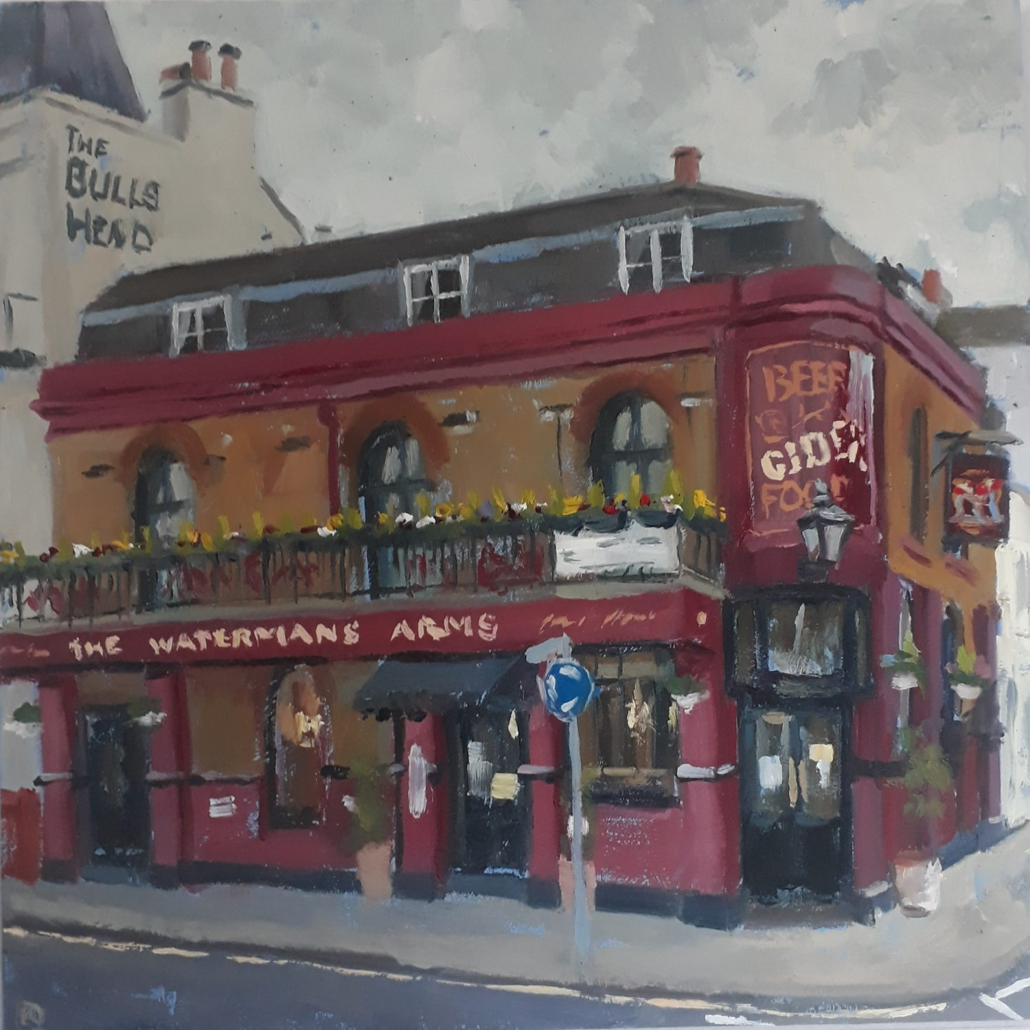 The Waterman's Arms, Barnes by Lesley Dabson