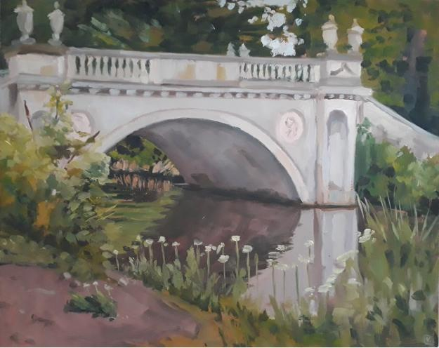 Chiswick House Bridge and Cow Parsley by Lesley Dabson