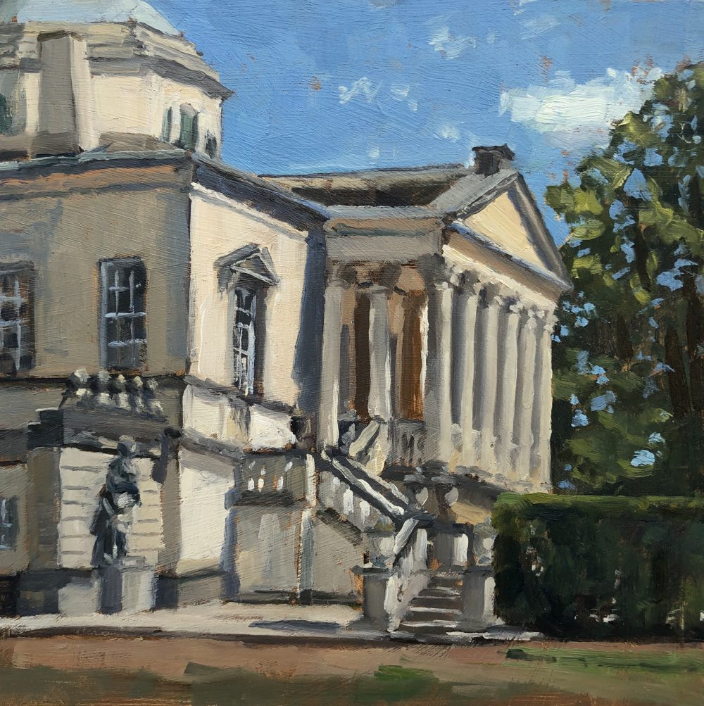 The Portico, Chiswick House by Lesley Dabson