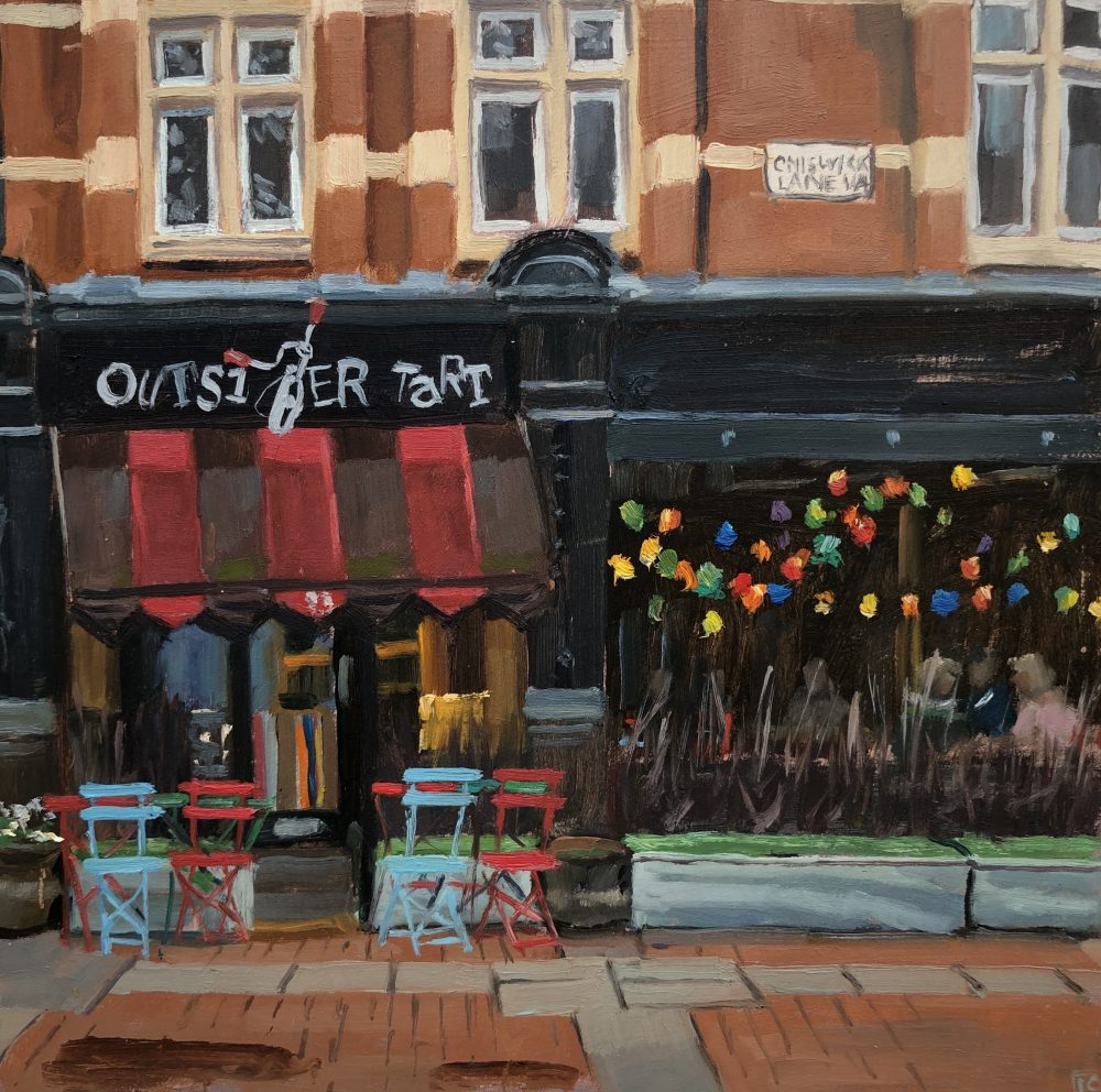 Outsider tart, Chiswick by Lesley Dabson