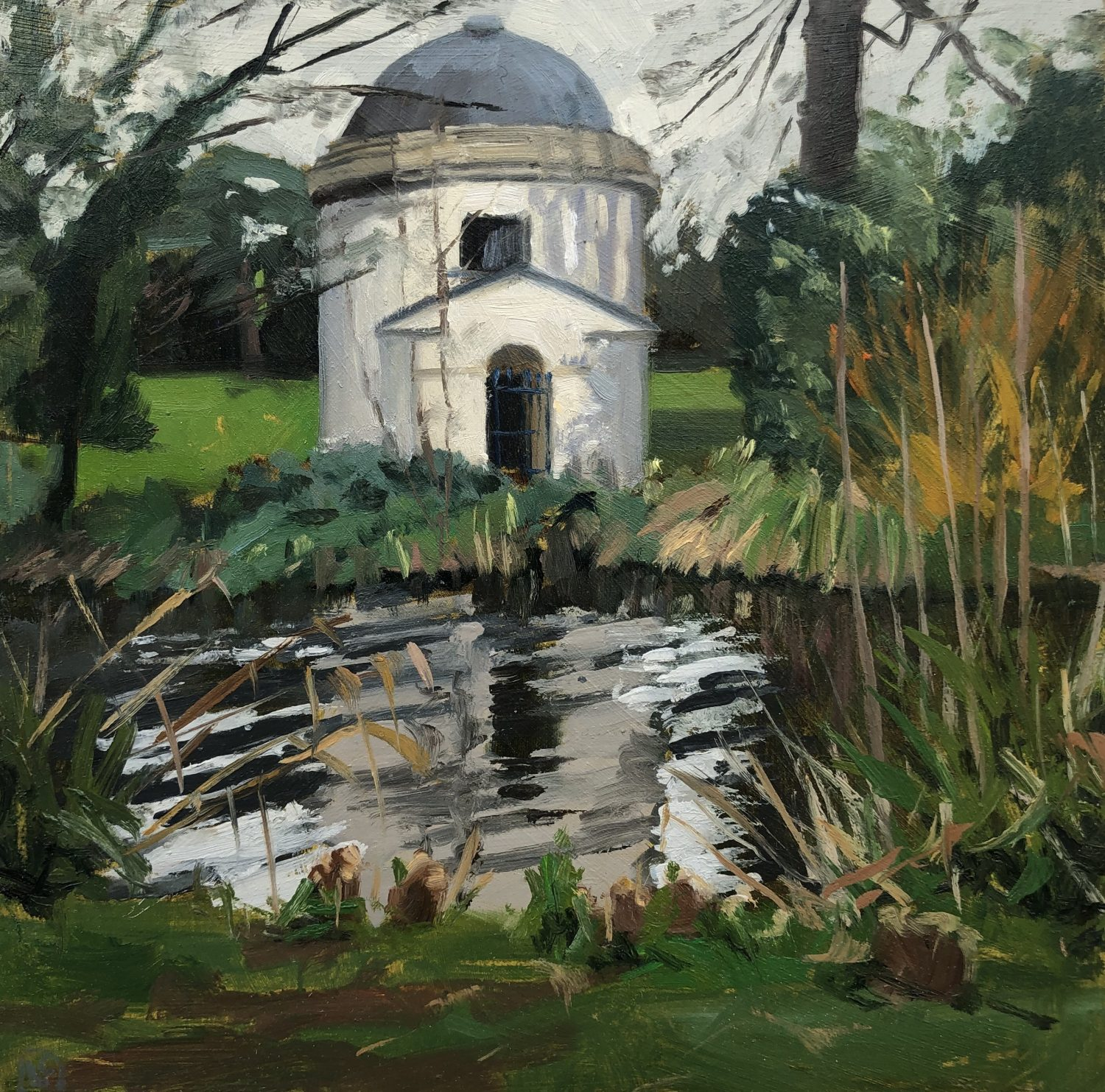 The Ionic Temple, Chiswick House by Lesley Dabson