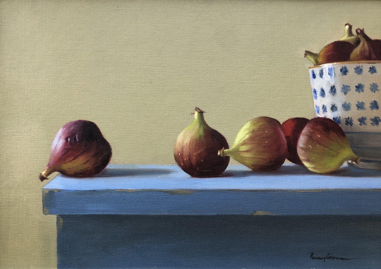 Figs on a Blue Shelf by Penny German