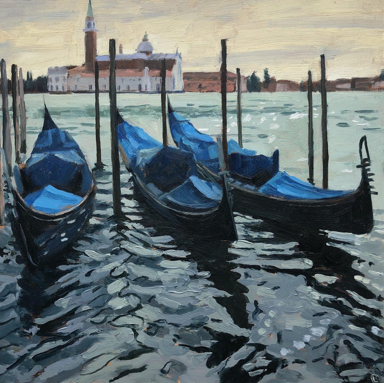 Towards San Giorgio Maggiore by Lesley Dabson