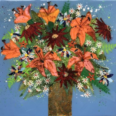 Summer Blooms by Nicky Chubb 40 x 40 cm
